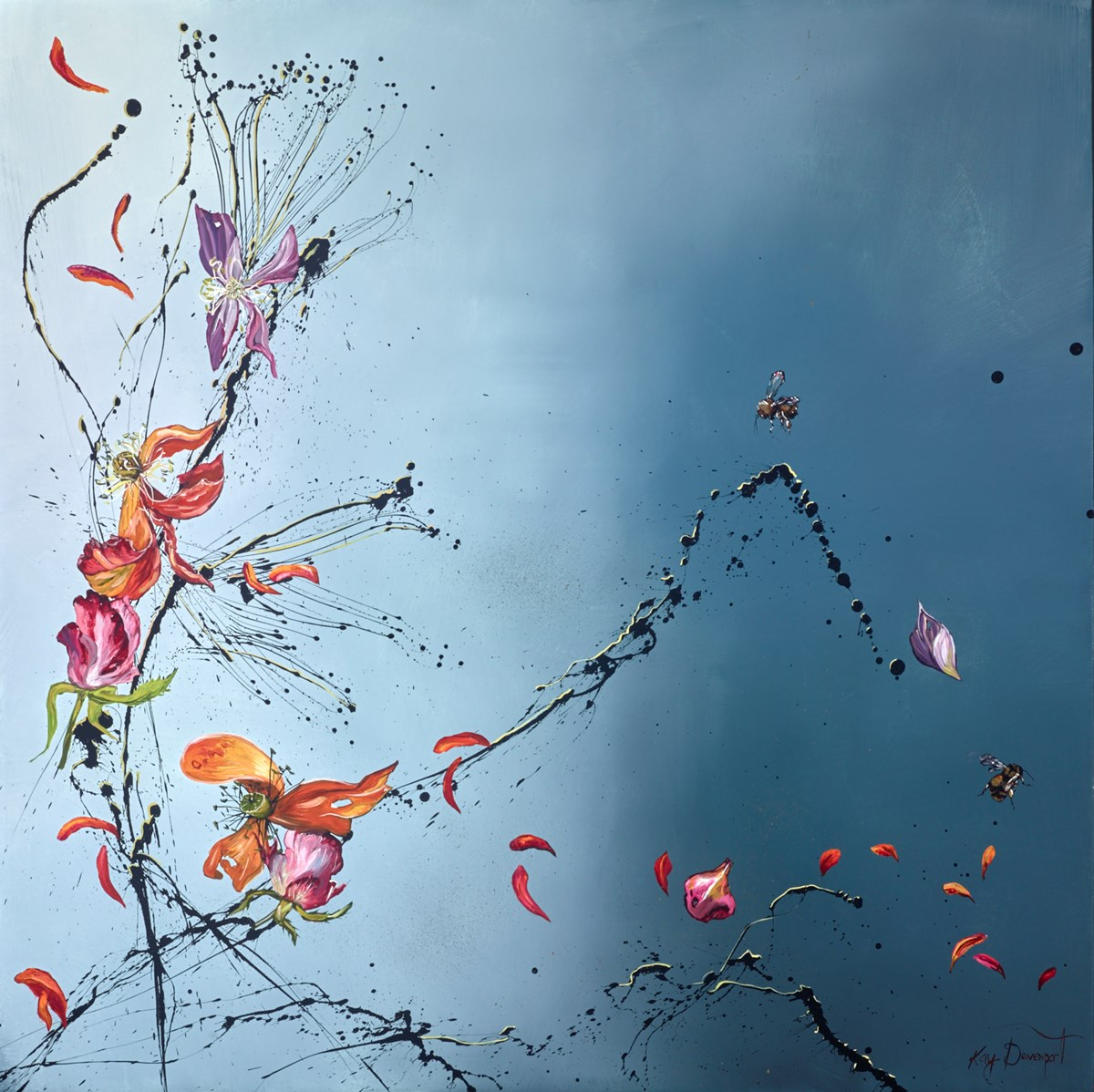 Spring's Fireworks by kay davenport -  sized 40x40 inches. Available from Whitewall Galleries